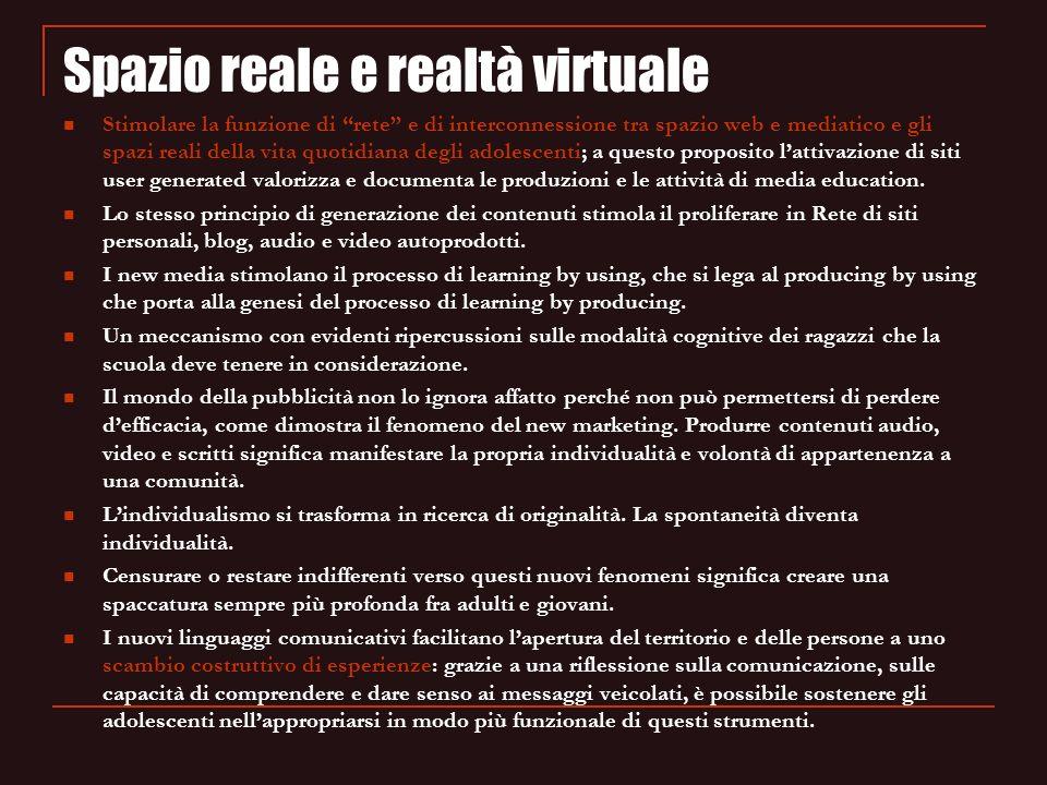Spazio reale e realtà virtuale