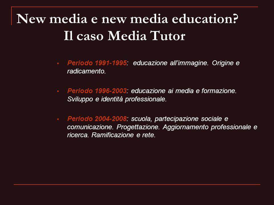 New media e new media education Il caso Media Tutor