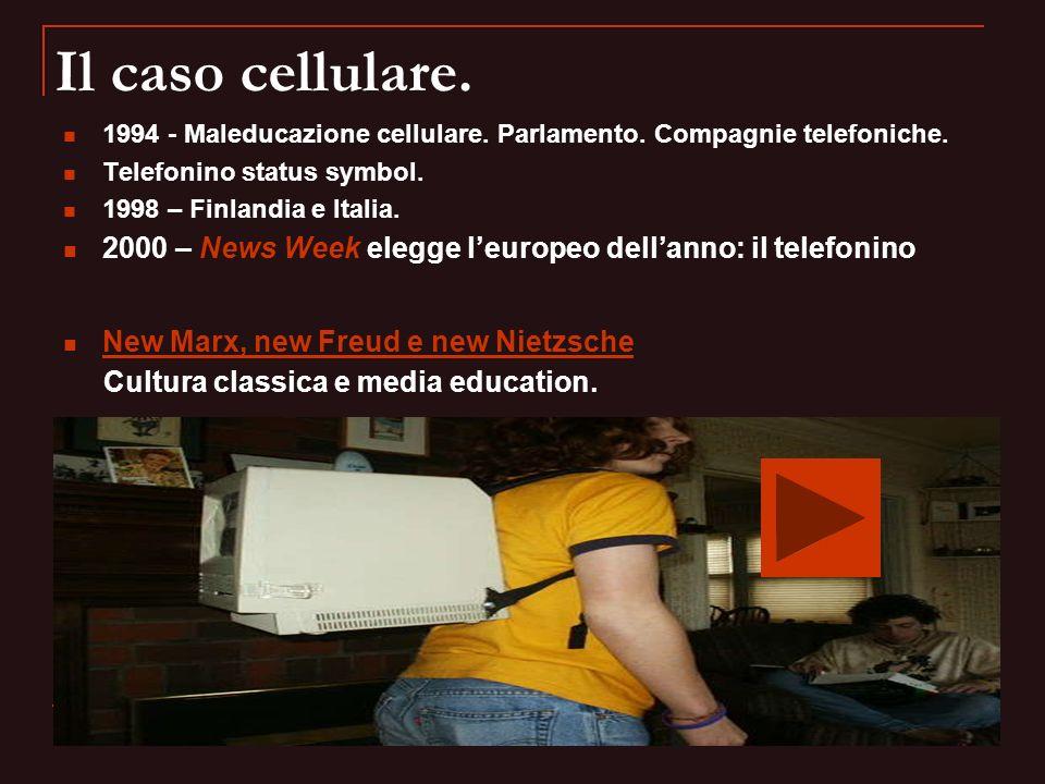Il caso cellulare. 1994 - Maleducazione cellulare. Parlamento. Compagnie telefoniche. Telefonino status symbol.