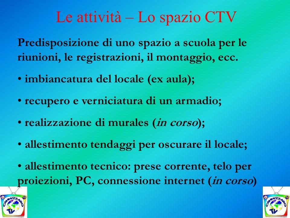 Le attività – Lo spazio CTV