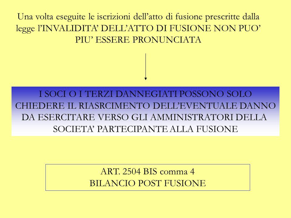 I SOCI O I TERZI DANNEGIATI POSSONO SOLO