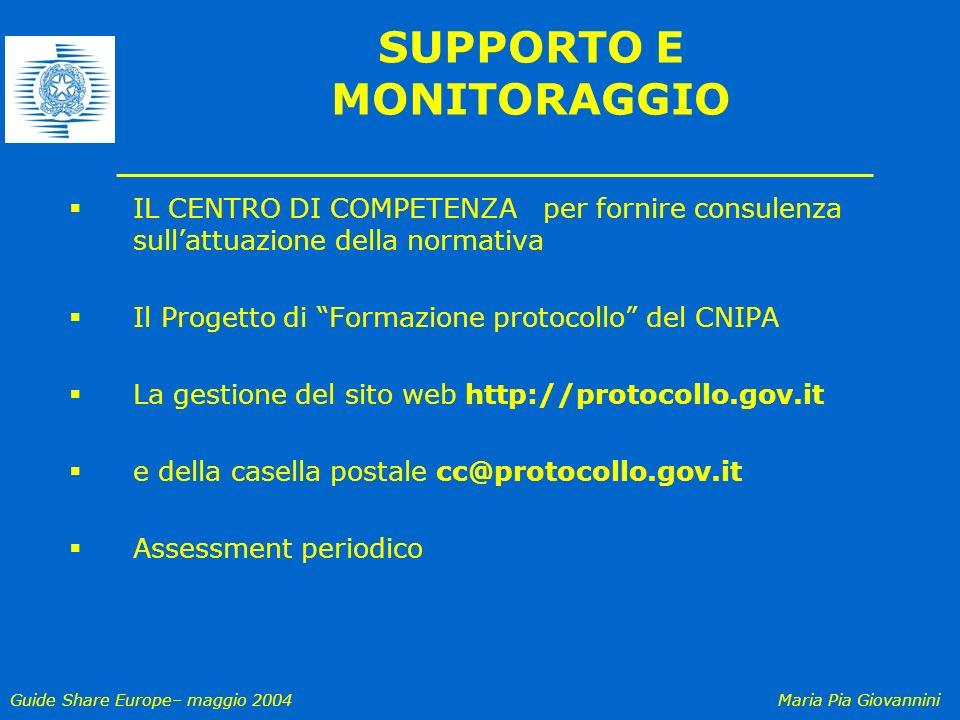 SUPPORTO E MONITORAGGIO
