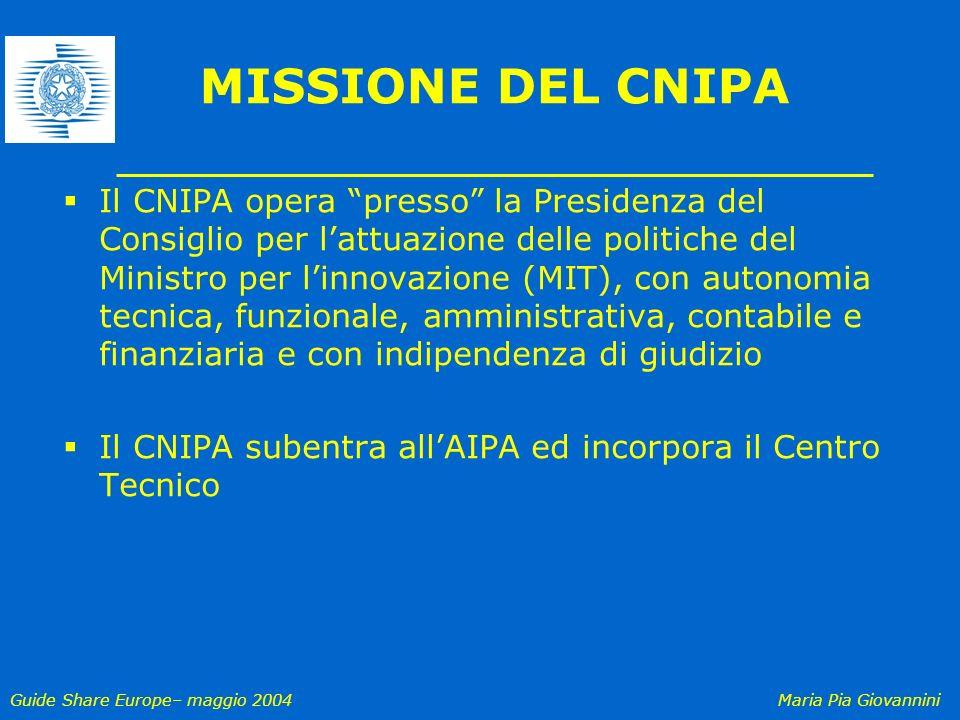 MISSIONE DEL CNIPA