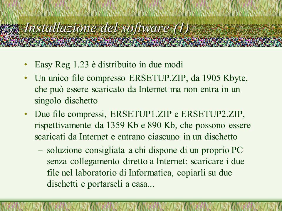 Installazione del software (1)