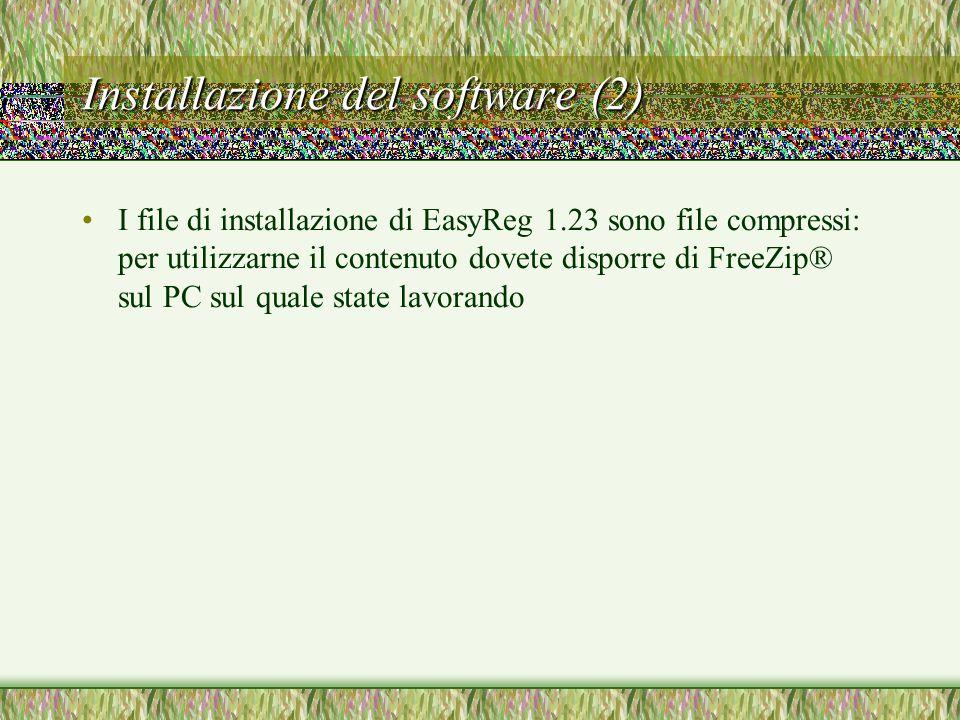 Installazione del software (2)