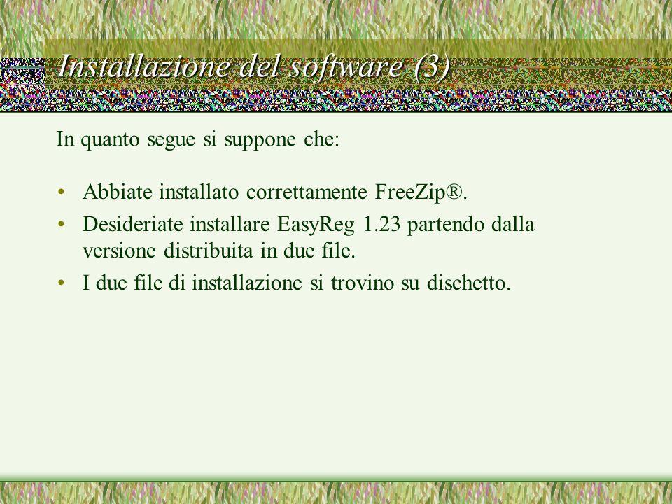 Installazione del software (3)