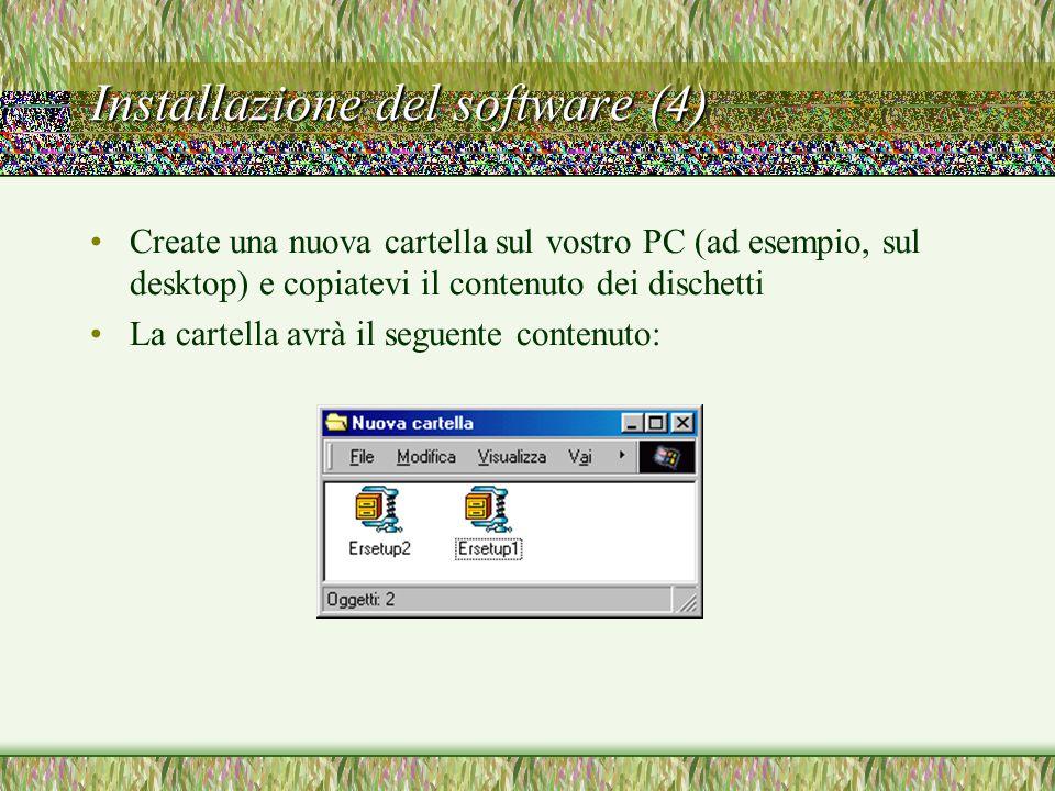Installazione del software (4)