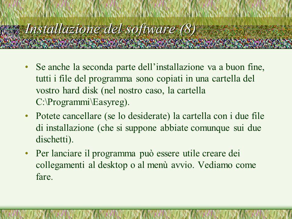 Installazione del software (8)