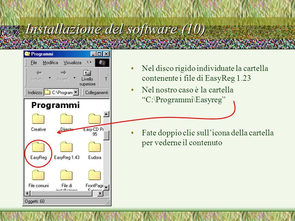 Installazione del software (10)