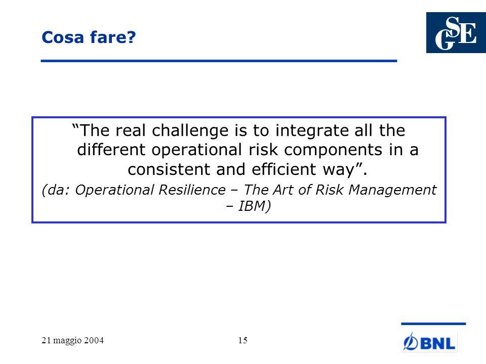 (da: Operational Resilience – The Art of Risk Management – IBM)