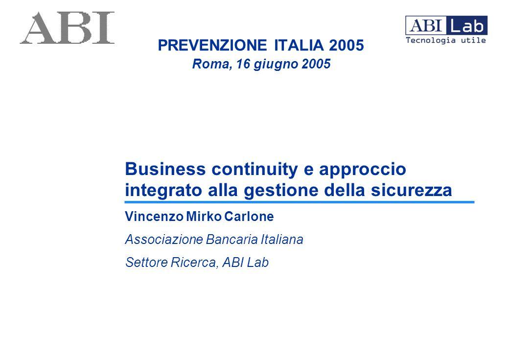 PREVENZIONE ITALIA 2005 Roma, 16 giugno 2005