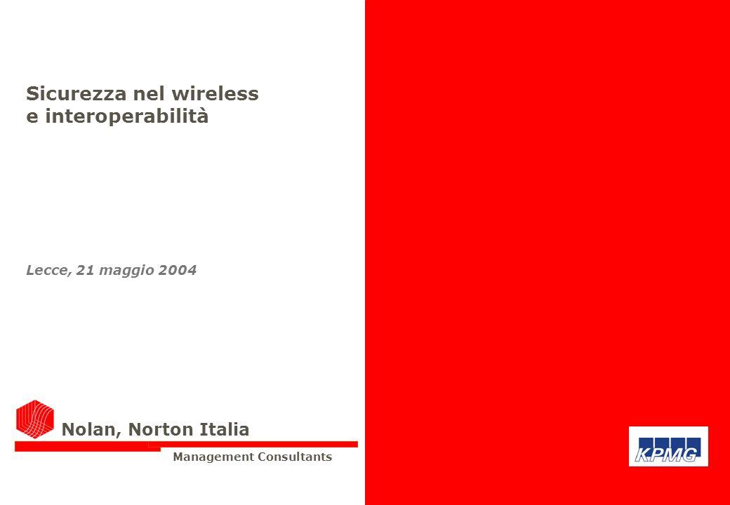 Sicurezza nel wireless e interoperabilità Lecce, 21 maggio 2004