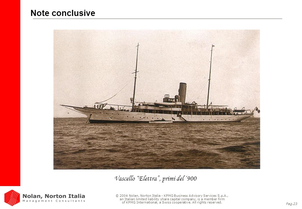 Vascello Elettra , primi del '900
