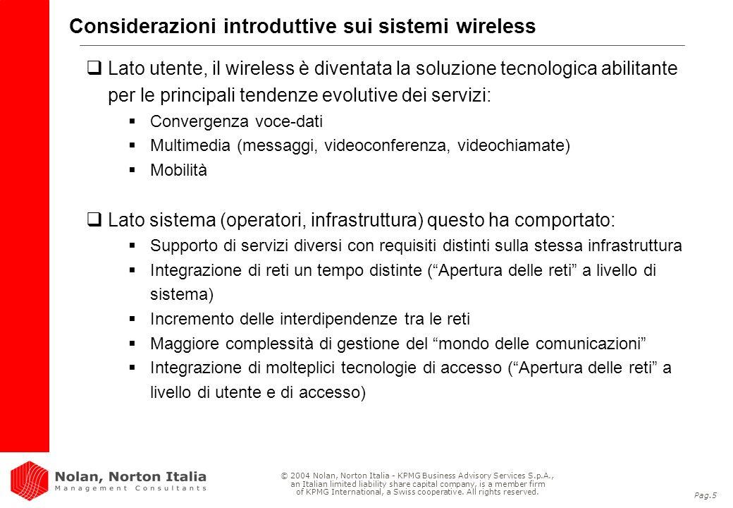 Considerazioni introduttive sui sistemi wireless