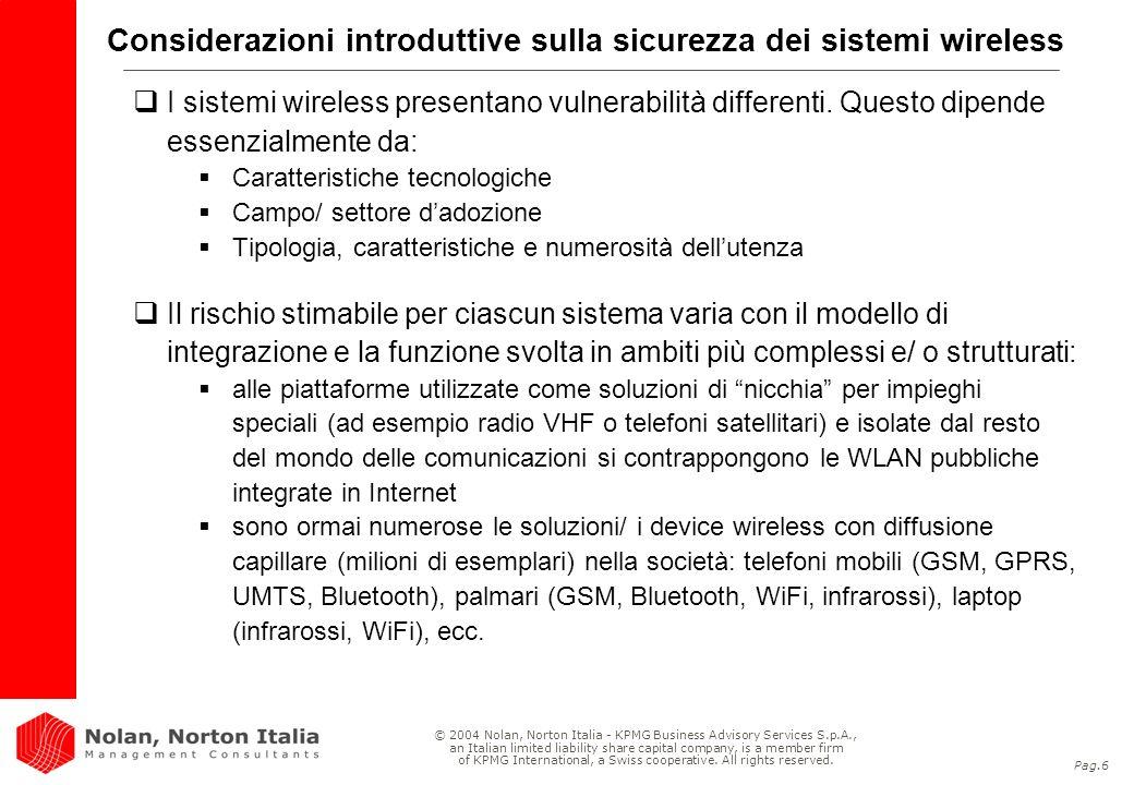 Considerazioni introduttive sulla sicurezza dei sistemi wireless