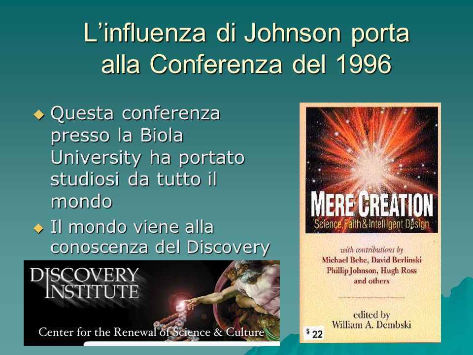 L'influenza di Johnson porta alla Conferenza del 1996