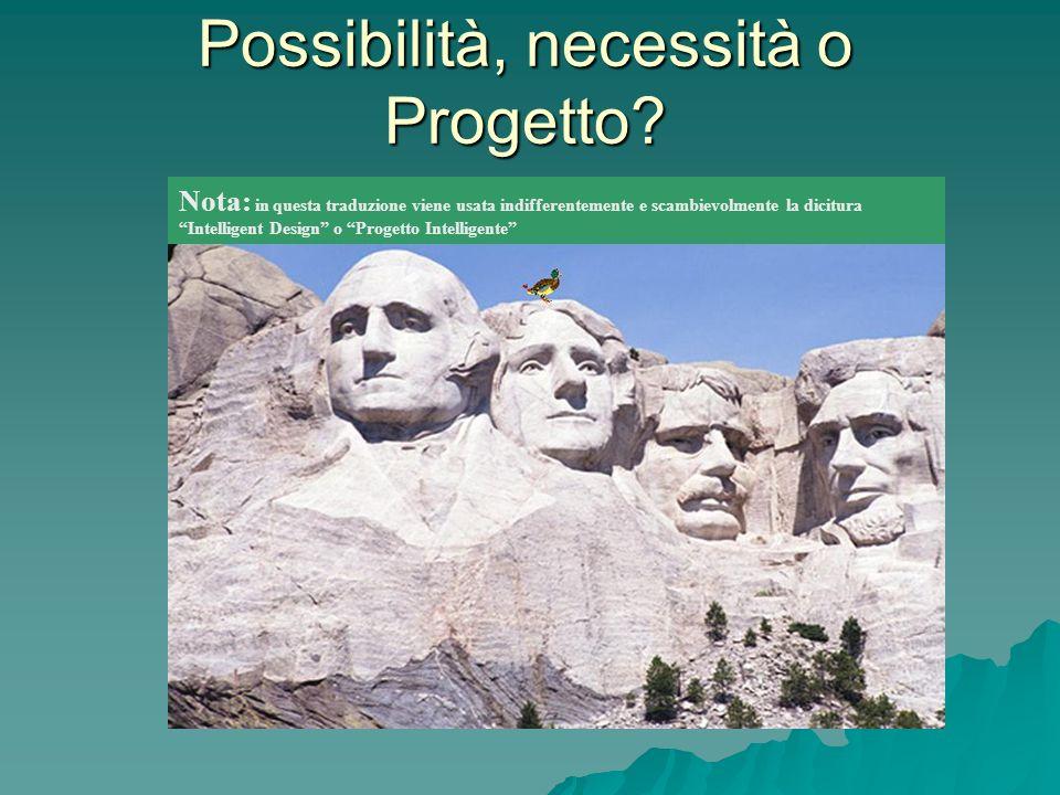 Possibilità, necessità o Progetto