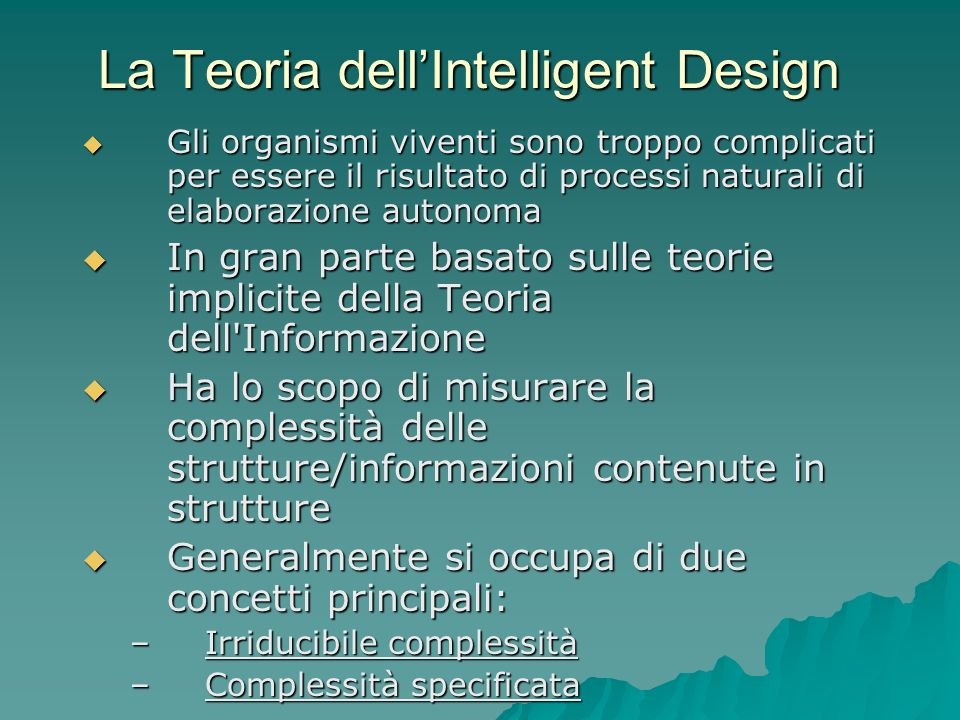 La Teoria dell'Intelligent Design