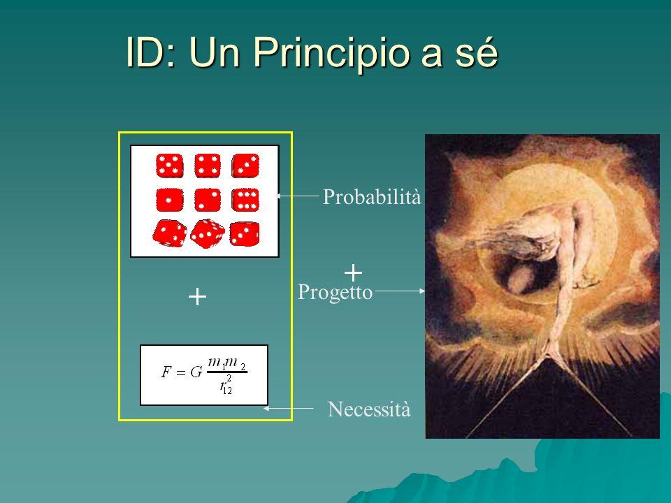 ID: Un Principio a sé Probabilità Progetto Necessità