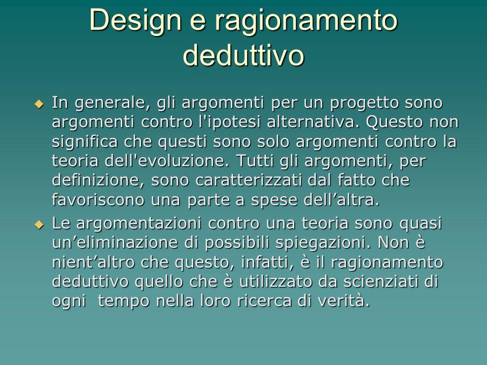 Design e ragionamento deduttivo