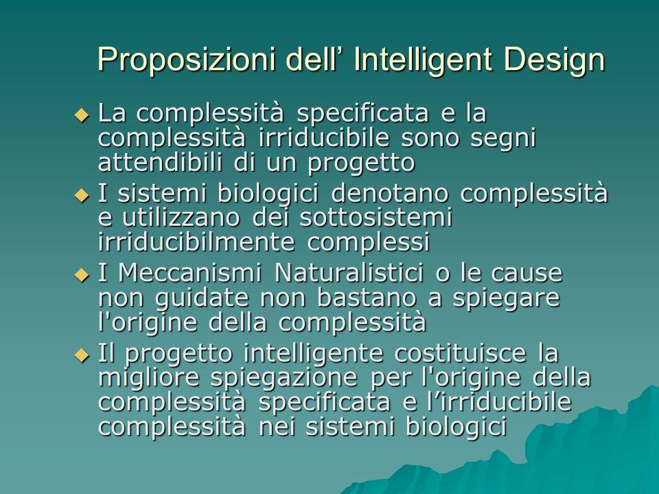 Proposizioni dell' Intelligent Design