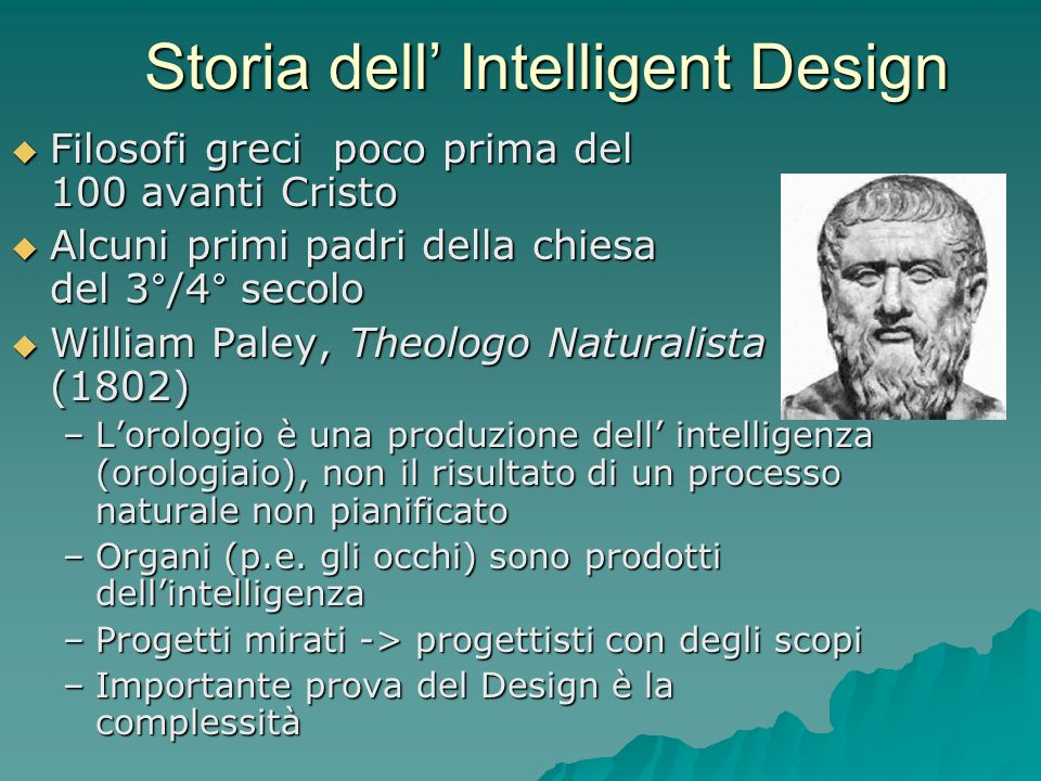 Storia dell' Intelligent Design