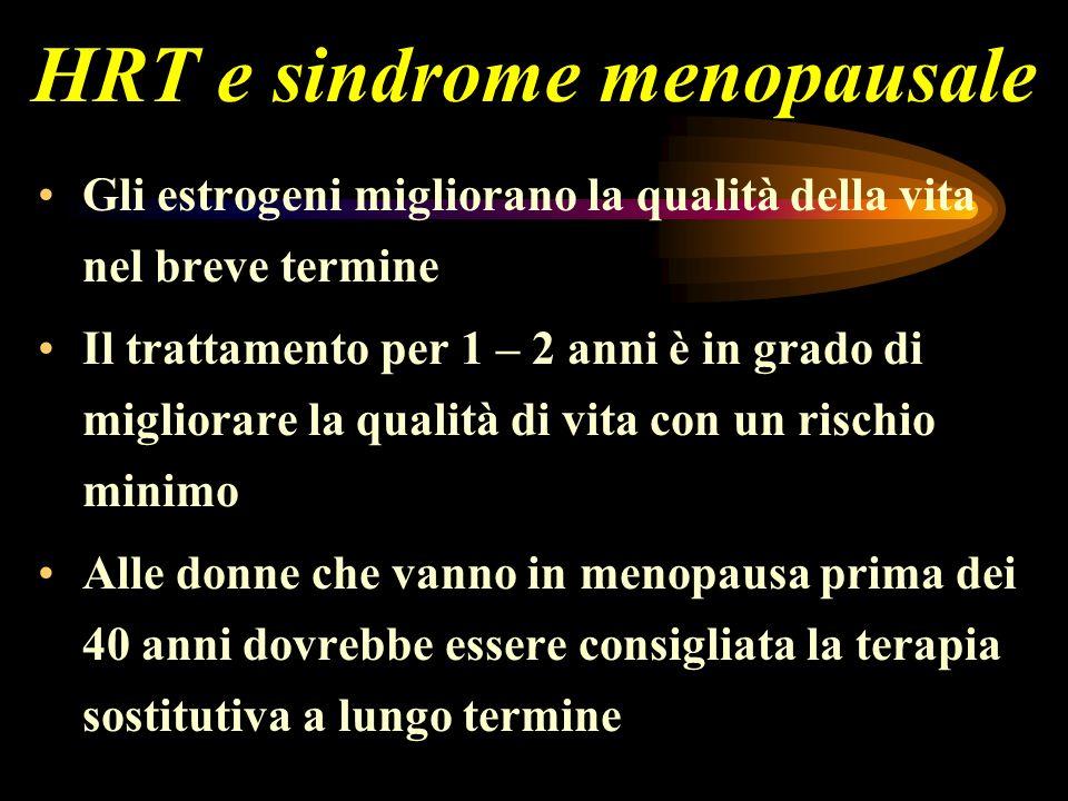 HRT e sindrome menopausale