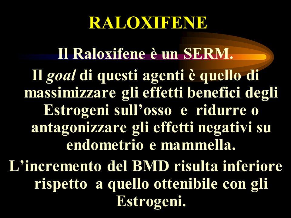 RALOXIFENE Il Raloxifene è un SERM.
