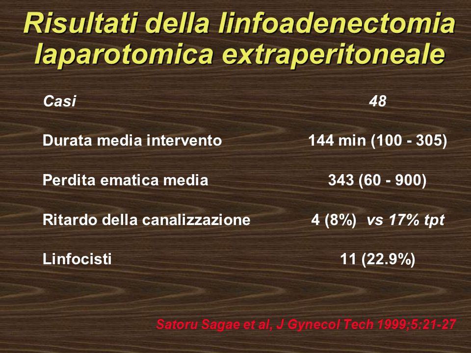 Risultati della linfoadenectomia laparotomica extraperitoneale