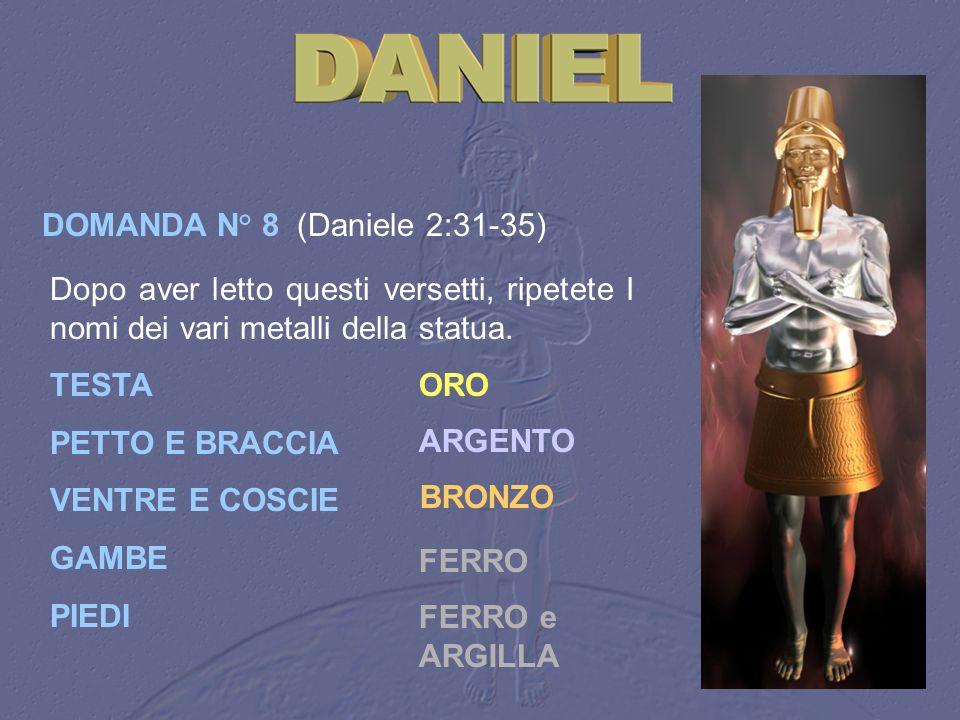 DOMANDA N° 8 (Daniele 2:31‑35)