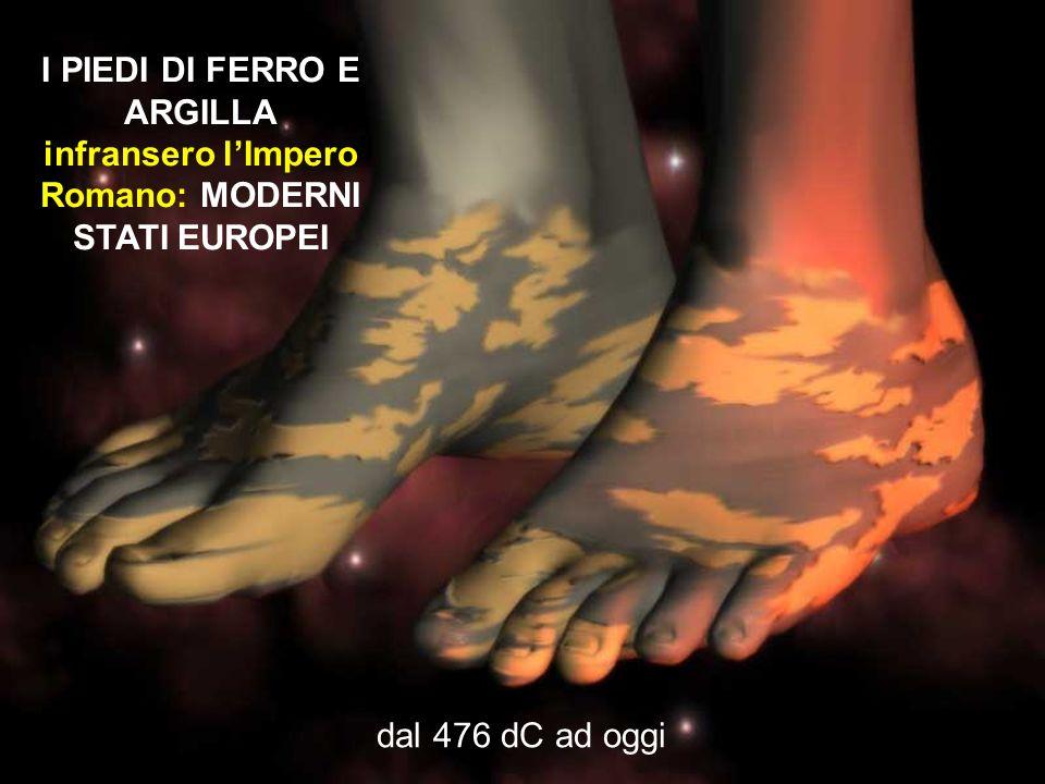 I PIEDI DI FERRO E ARGILLA infransero l'Impero Romano: MODERNI STATI EUROPEI