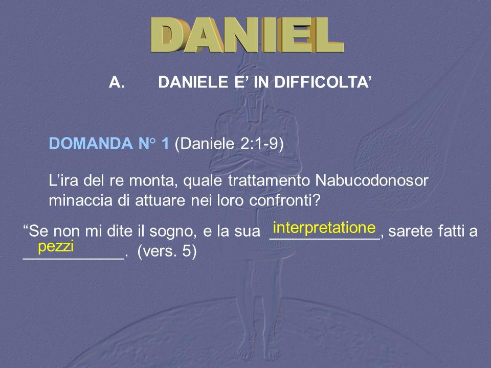 A. DANIELE E' IN DIFFICOLTA'
