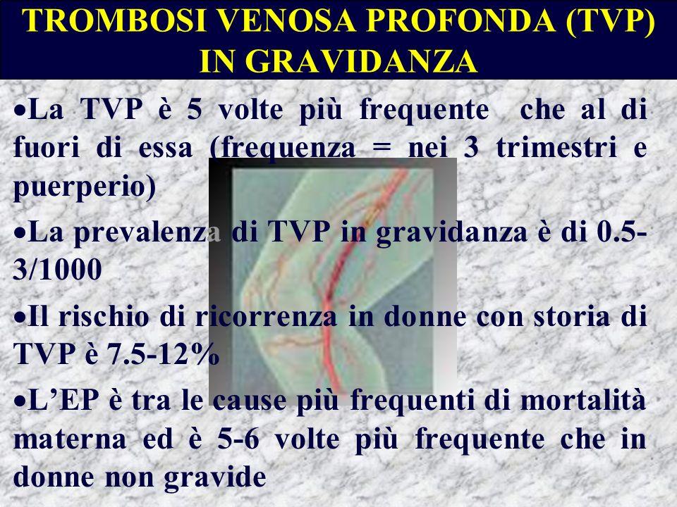 TROMBOSI VENOSA PROFONDA (TVP) IN GRAVIDANZA