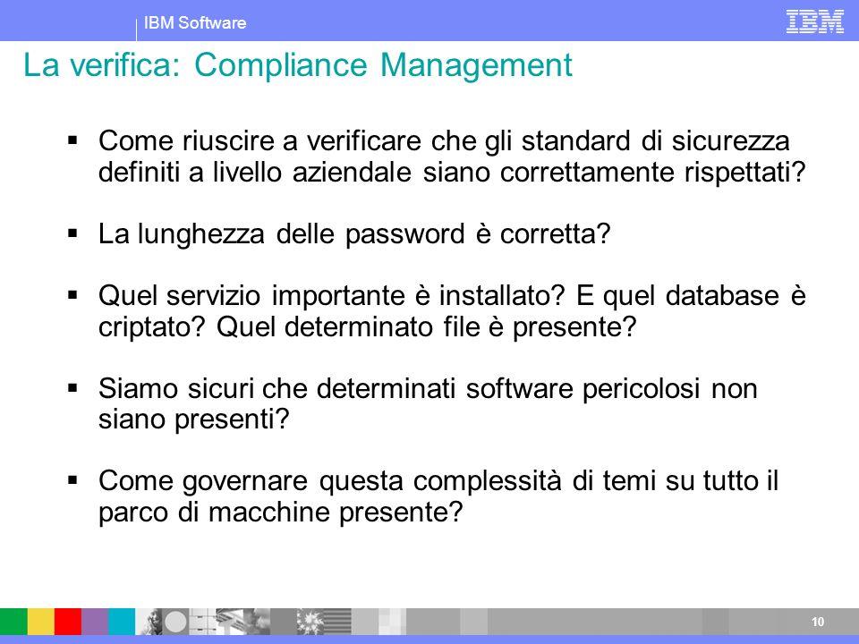La verifica: Compliance Management