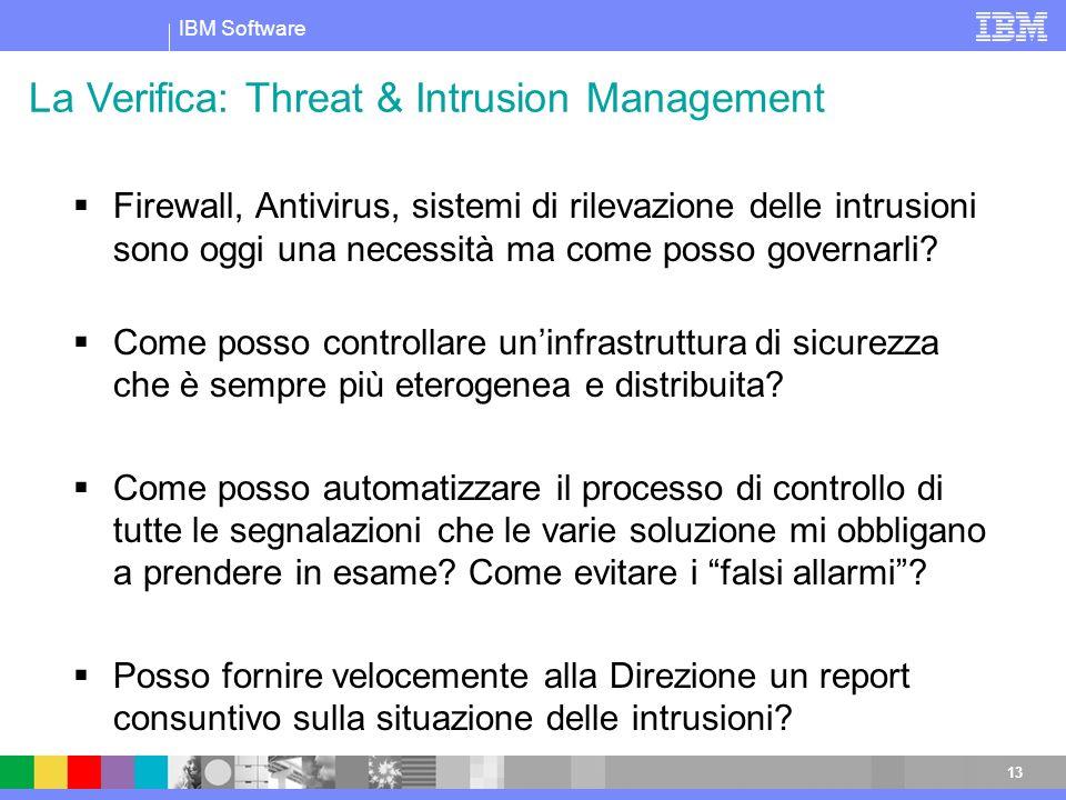 La Verifica: Threat & Intrusion Management
