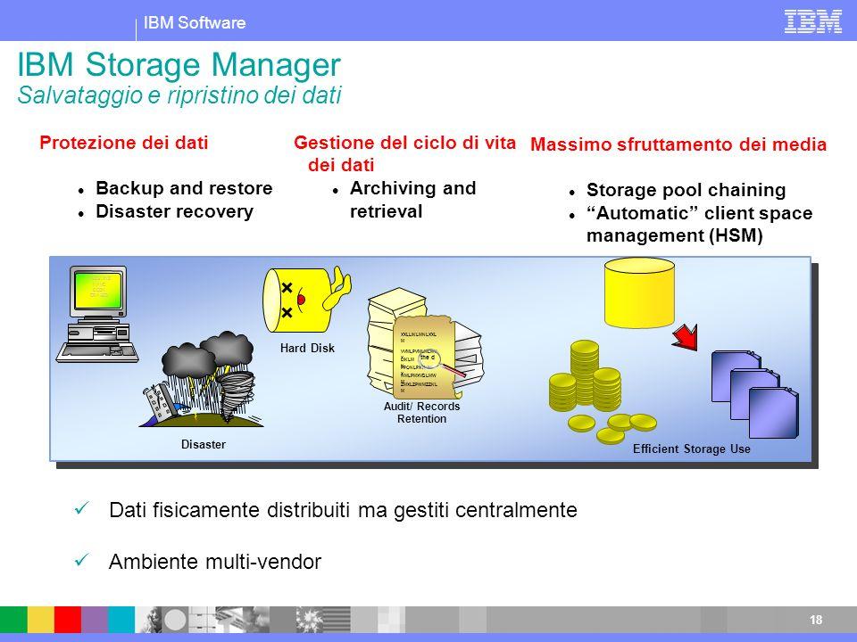 IBM Storage Manager Salvataggio e ripristino dei dati