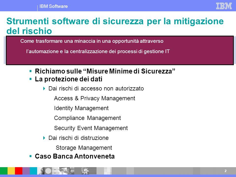 Strumenti software di sicurezza per la mitigazione del rischio