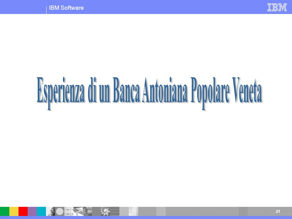 Esperienza di un Banca Antoniana Popolare Veneta