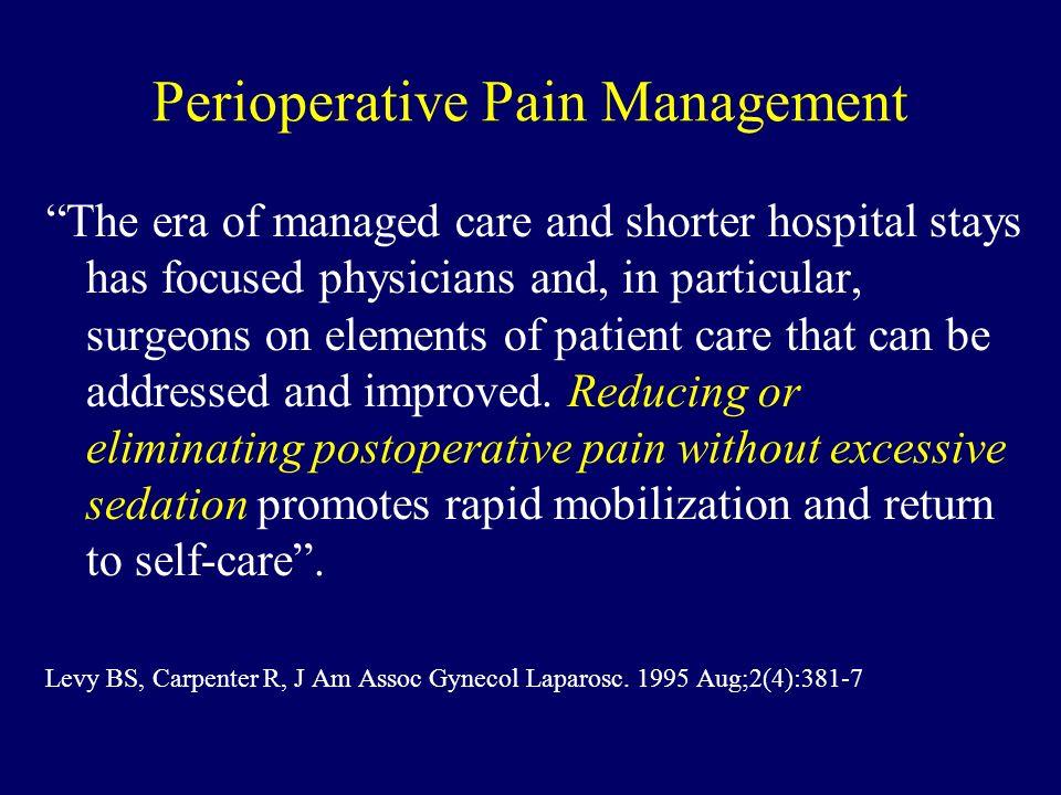 Perioperative Pain Management