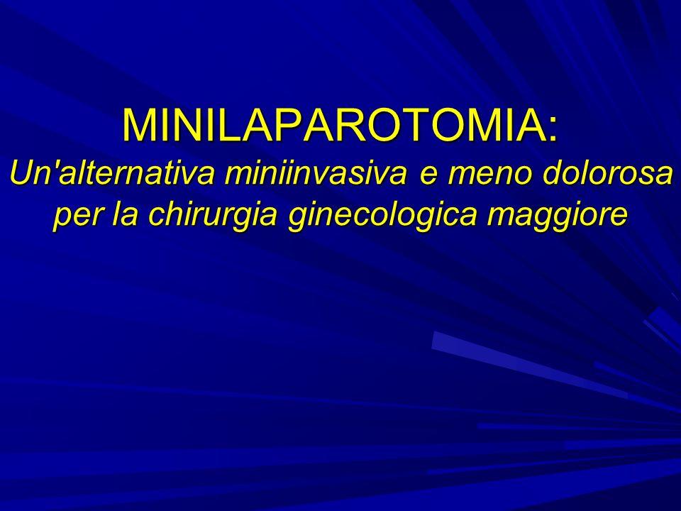 MINILAPAROTOMIA: Un alternativa miniinvasiva e meno dolorosa per la chirurgia ginecologica maggiore