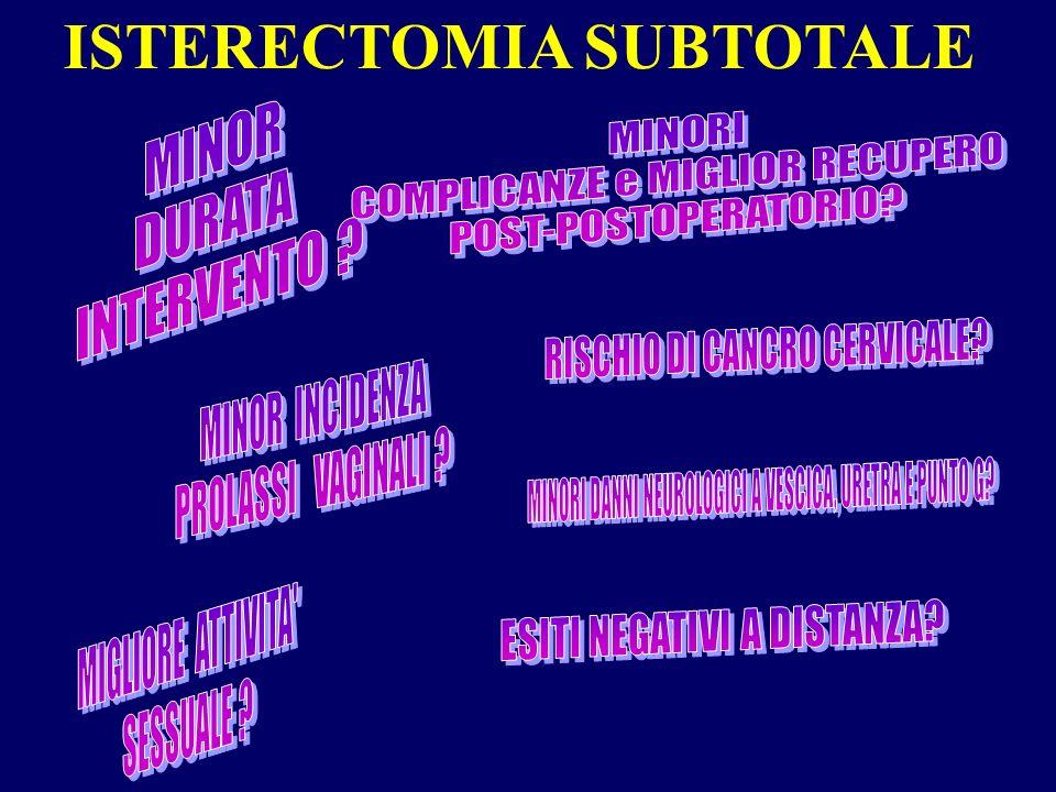 ISTERECTOMIA SUBTOTALE
