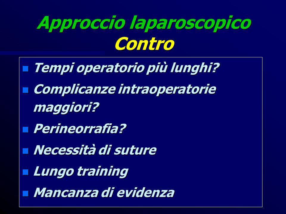 Approccio laparoscopico Contro