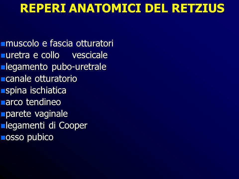 REPERI ANATOMICI DEL RETZIUS