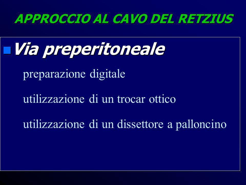 APPROCCIO AL CAVO DEL RETZIUS