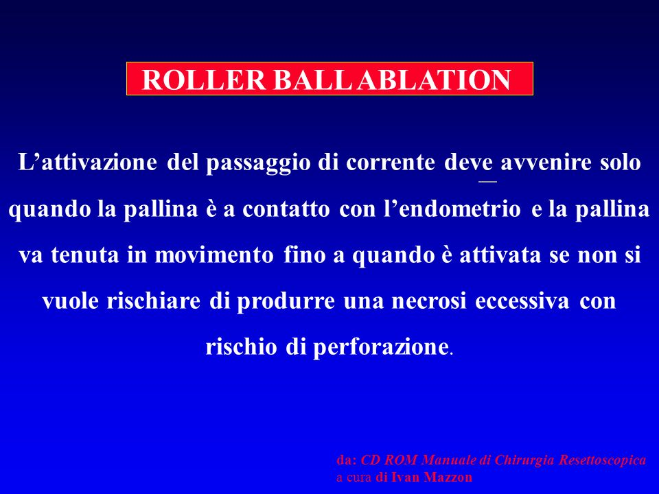 ROLLER BALL ABLATION