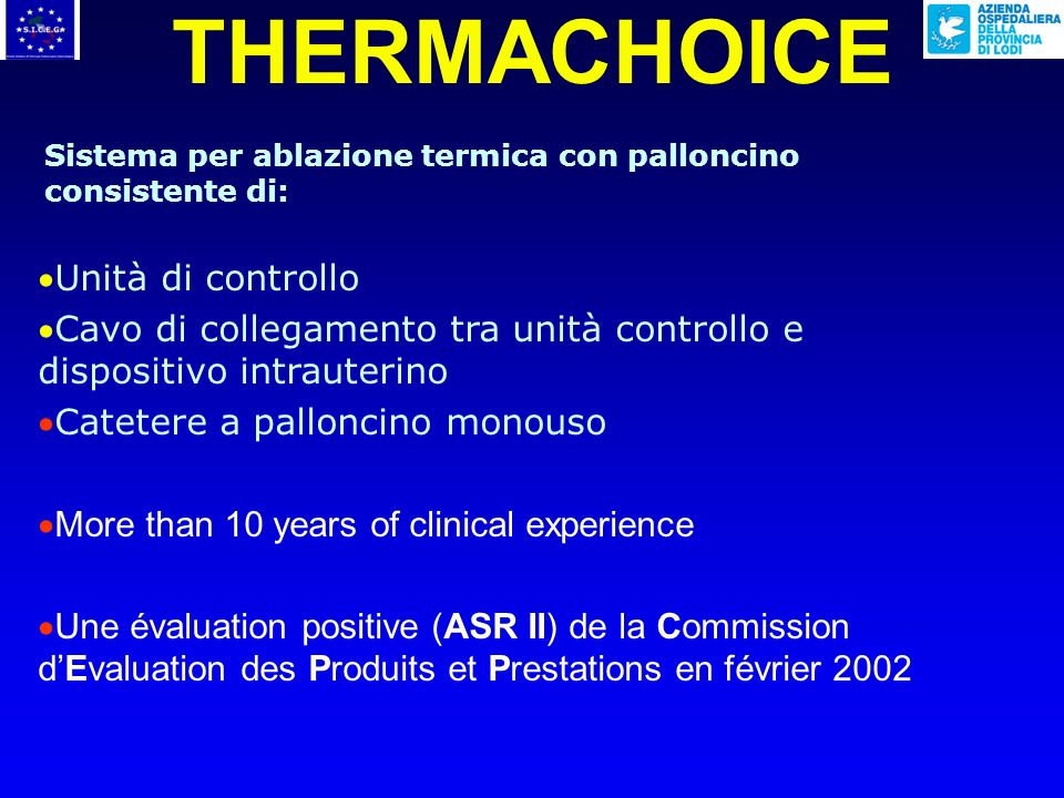THERMACHOICE Unità di controllo