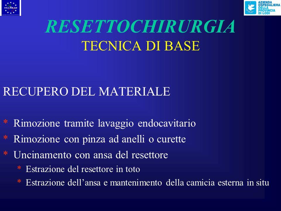RESETTOCHIRURGIA TECNICA DI BASE