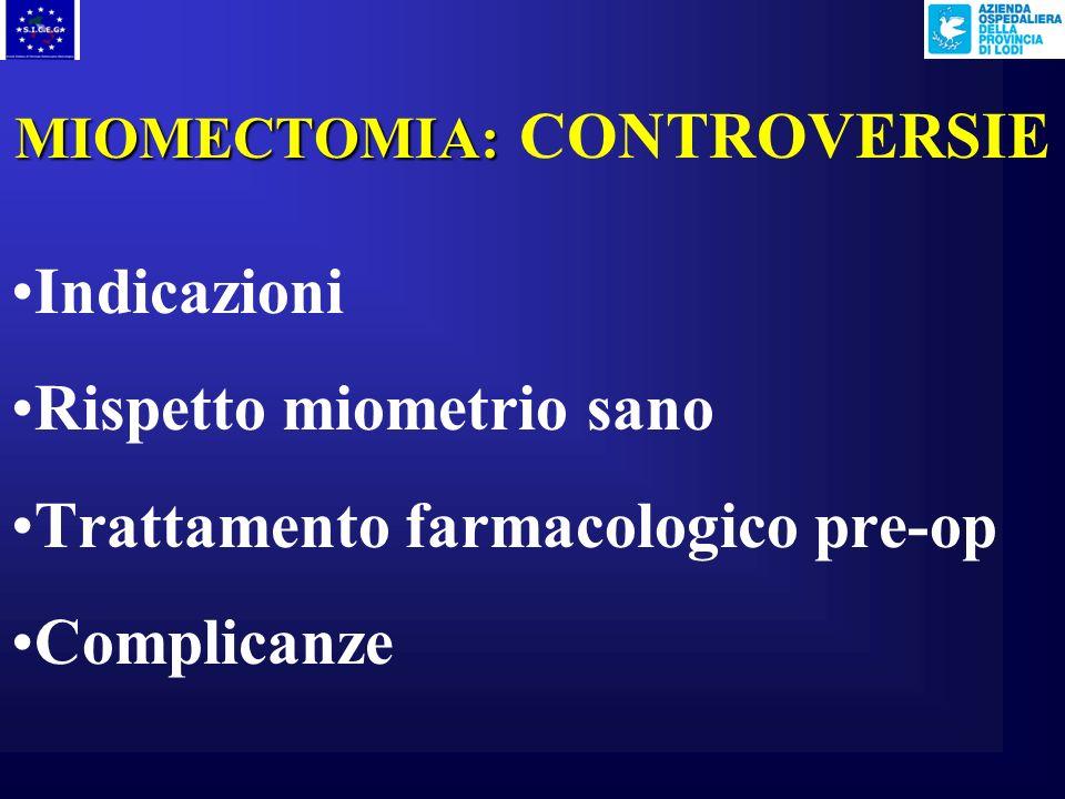 MIOMECTOMIA: CONTROVERSIE