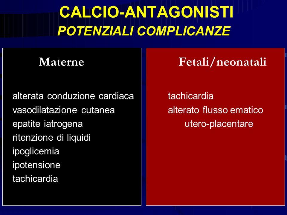 CALCIO-ANTAGONISTI POTENZIALI COMPLICANZE