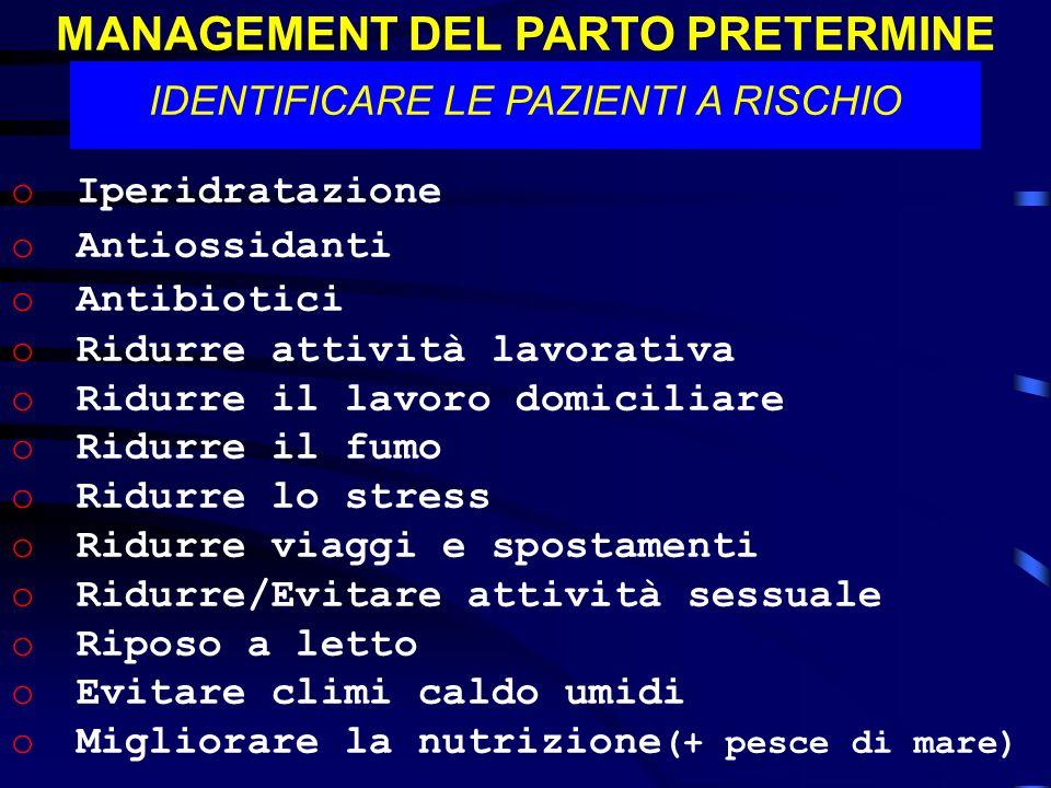 MANAGEMENT DEL PARTO PRETERMINE